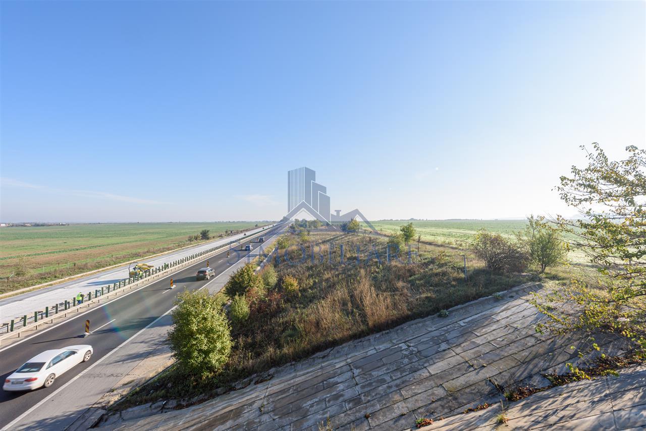 Teren de vanzare, cu acces direct pe Autostrada A2 ( lucrari  incepute)