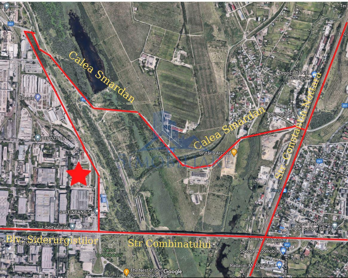 Zona Combinatului Siderurgic Galati - Teren de Vanzare - 46932 mp