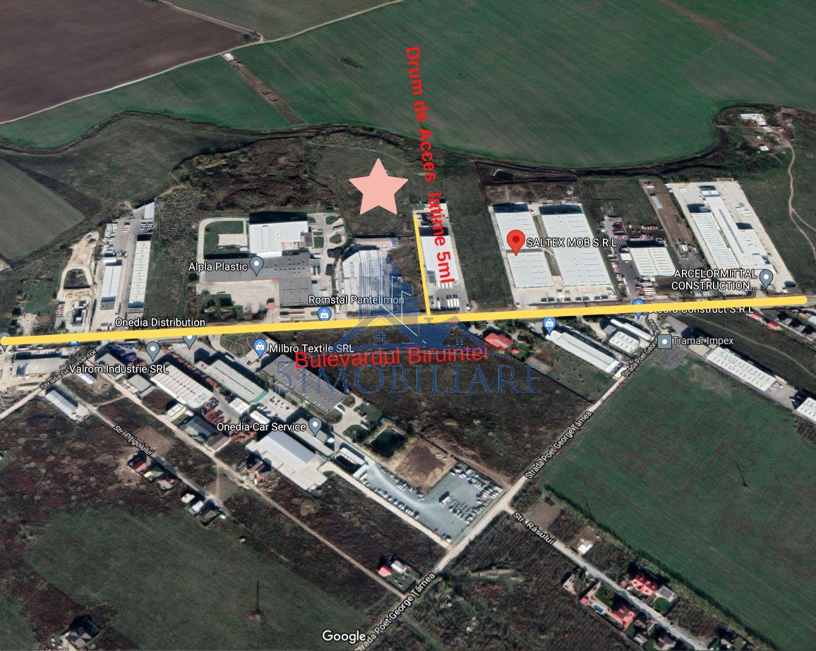 Pantelimon,Bulevardul Biruintei - teren de vanzare- 29910 Mp, 22Euro/mp