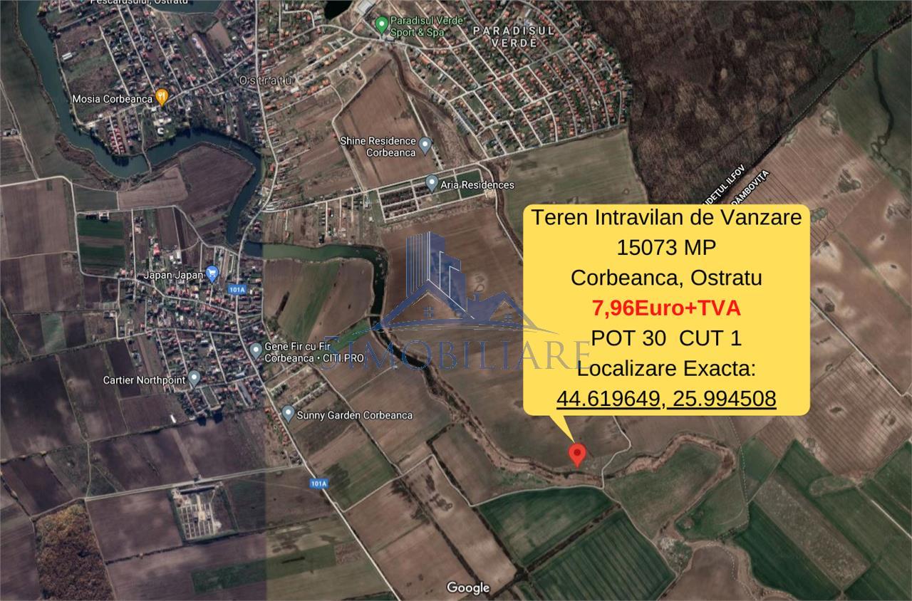 Corbeanca- Teren Intravilan- 15000mp-7,96 Euro/mp. Comision 0%