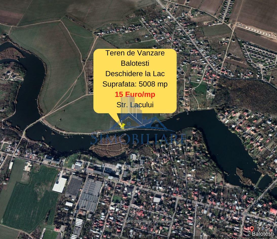 Balotesti- Teren Intravilan de Vanzare- deschidere la Lac Comision 0%