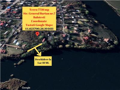 Teren de Vanzare cu Deschidere la Lac- Balotesti. Comision 0%