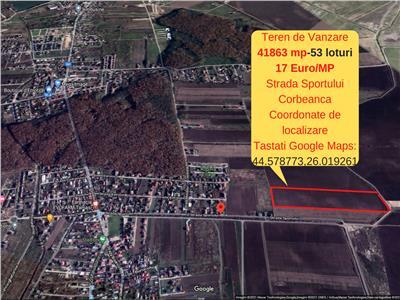 Corbeanca- Oportunitate de Investitie- 53 Loturi de Casa - 17 Euro/mp