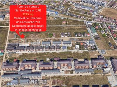 Militari Residence- Teren de Vanzare 1224 mp/Certificat de Urbanism de Constructie