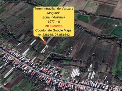 Magurele- teren intravilan de vanzare- 1944mp/20 euro mp. Comision 0%
