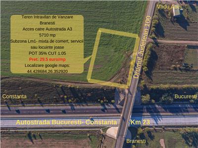 Ocazie -Teren intravilan de vanzare, Vadu Anei 5710 mp - 29.5 euro/mp